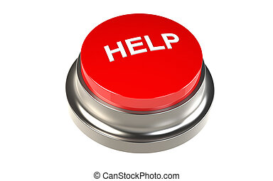 Button for Help. Red Button