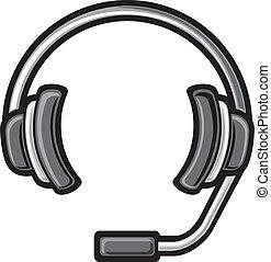 call center headset (DJ headphones, headset symbol, headphone icon)