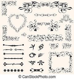 calligraphic design elements page decoration