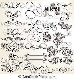 Calligraphic vector vintage design