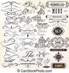 Calligraphic vintage vector design