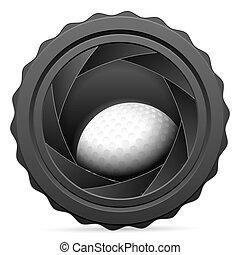camera shutter with golf ball