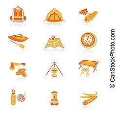 Camping icons || JUICY series