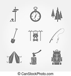Camping icons.
