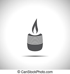 candle vector icon