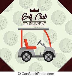 car golf club tournament ball background