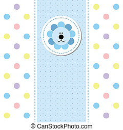 card design baby arrival announcement card