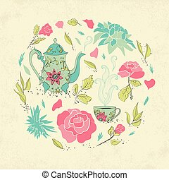 Card for tea party