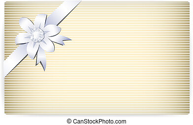 Card note with creative ribbon