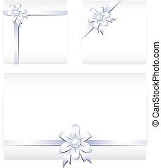 Card notes with creative ribbons