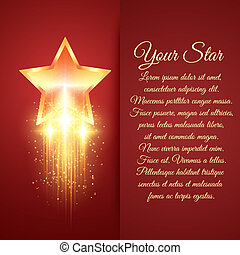 Card with glowing golden star
