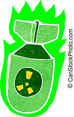 cartoon atomic bomb
