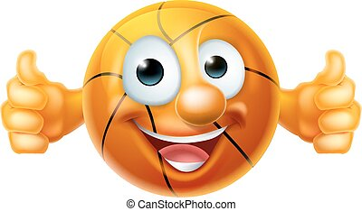 Cartoon Basketball Ball Character