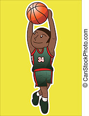 cartoon basketball player