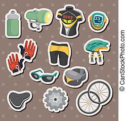 cartoon bicycle equipment stickers