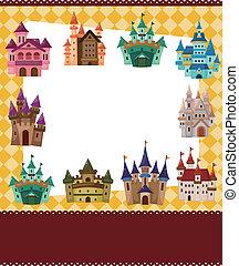 cartoon castle card