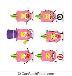 Cartoon character of baby swimsuit with various circus shows