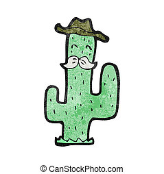 cartoon cowboy cactus