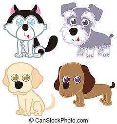 cartoon dog set.