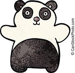 cartoon doodle happy panda