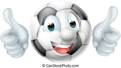 Cartoon Football Ball Character