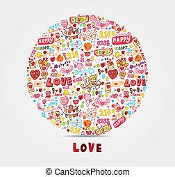 cartoon love card