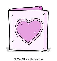 cartoon love heart card
