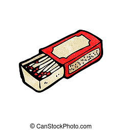 cartoon match box