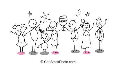 cartoon party vector