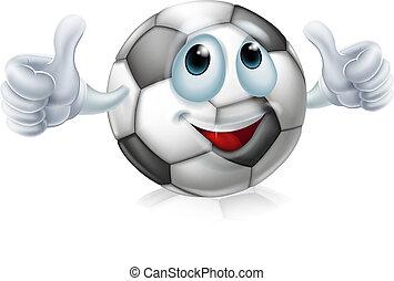 Cartoon soccer ball character