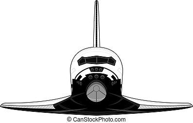 Cartoon Space Shuttle Vector Illustration