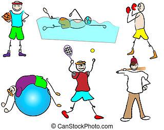 cartoon sport and recreation