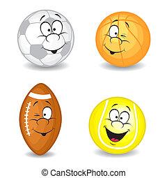 Cartoon sport balls
