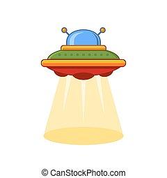 Cartoon Style UFO Vector Icon
