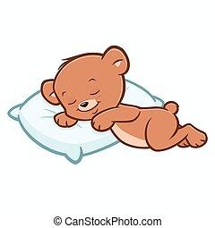 Cartoon Teddy Bear Sleeping