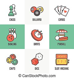 Sport and Leisure Games Icons