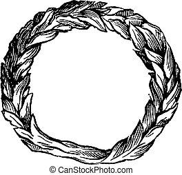 Celtic ring vintage engraving