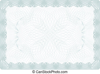 Certificate background and border