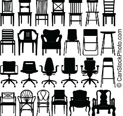 A set of chairs design.