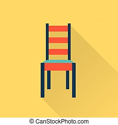 Vector flat icon of a chair flat style illustration