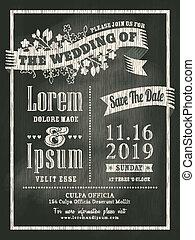 chalkboard Wedding Invitation card background