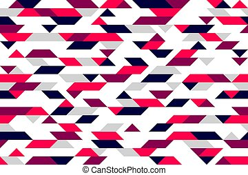 Chaotic abstract mosaic vector seamless background, geometric tiling pattern, interior design element or wallpaper, wrapping paper or web design.