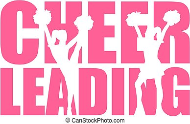 Cheerleading word with cutout
