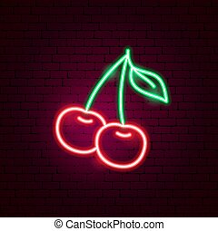 Cherry Neon Sign