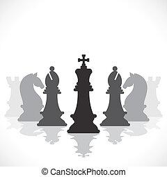 chess game concept stock vector