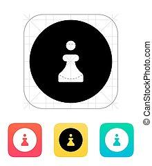 Chess Pawn icon. Vector illustration.
