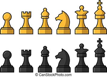 Chess pieces illustration