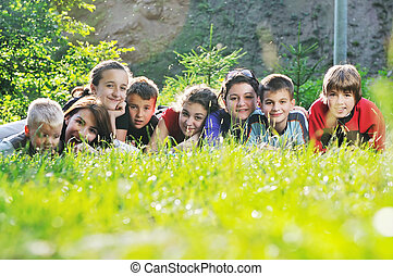 child group outdoor