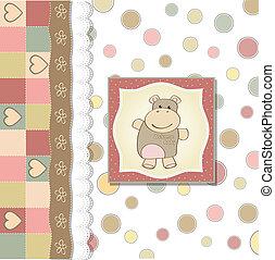childish baby girl shower card