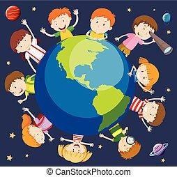 Children around the world concept